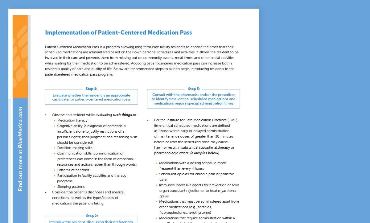 Implementation of Patient-Centered Medication Pass